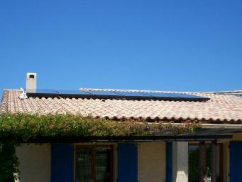 Capteur solaire sur toiture